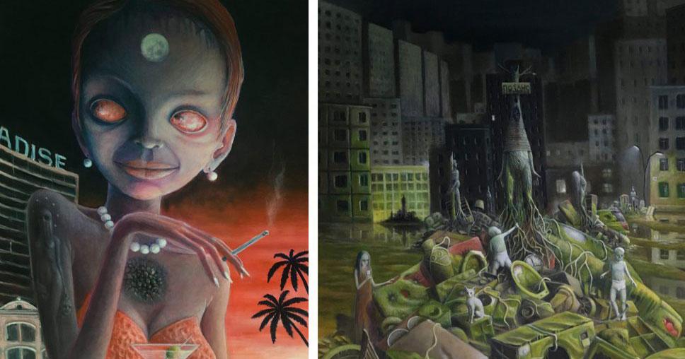 В Новосибирске открылась атмосферная сюрреалистическая выставка «Вернисаж сновидений»
