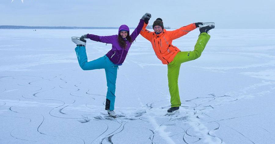 Новосибирцы открыли коньковый сезон на природном льду Обского моря