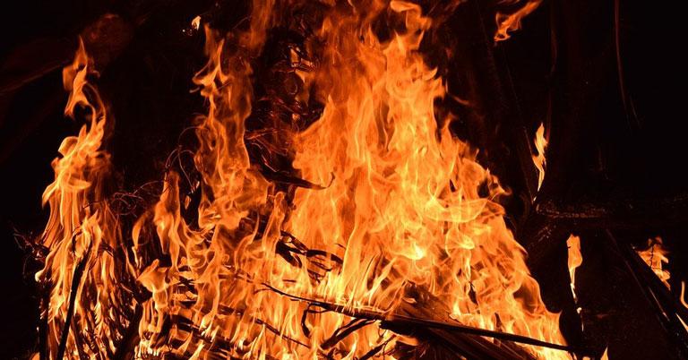 В Новосибирской области из-за страшного пожара осталась без крова семья с десятью детьми