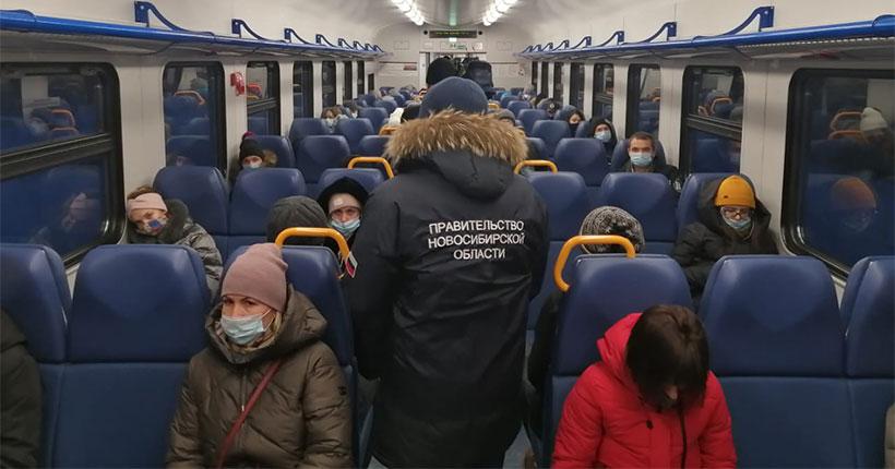 В Новосибирске два ковид-диссидента покинули электричку во время рейда