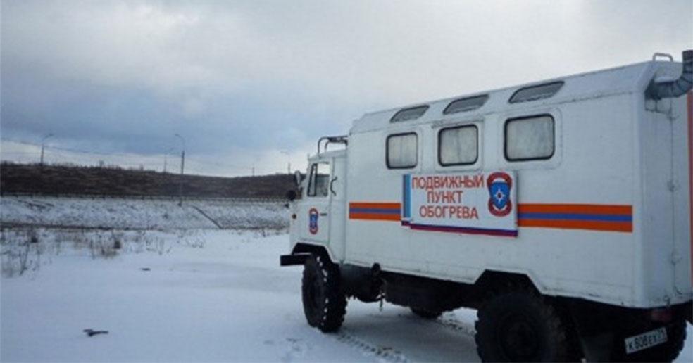 В Новосибирской области во время аномальных морозов на трассах работают пункты обогрева