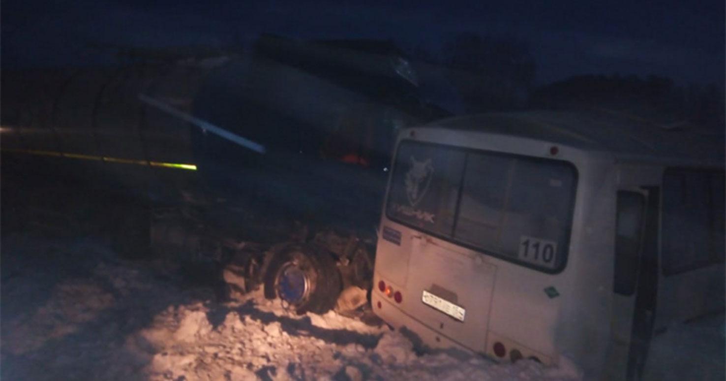 Авария с пассажирским автобусом в Новосибирской области попала в статистику чрезвычайных происшествий