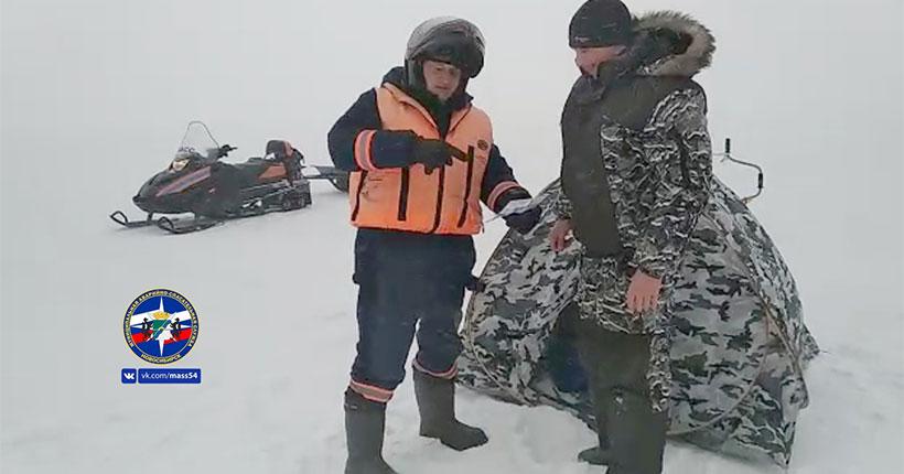 Новосибирских рыбаков предупредили о серьёзных рисках на льду