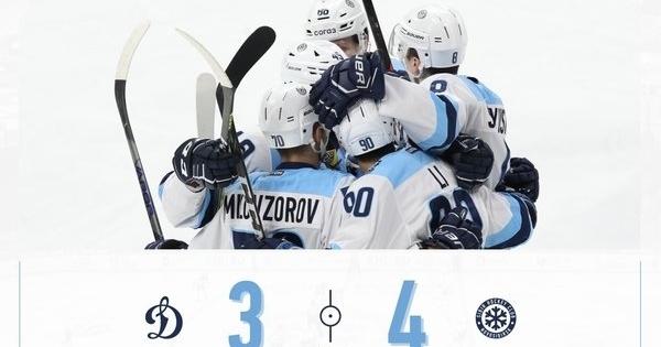 Новосибирская хоккейная «Сибирь» спаслась от поражения в Москве