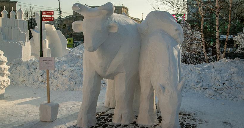 Мэр Новосибирска рассказал о расследовании в отношении вандалов, разгромивших снежные скульптуры