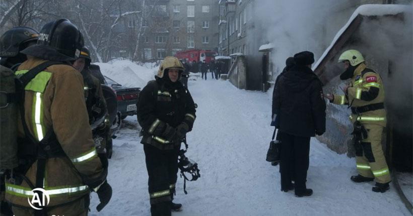 Днём 1 февраля произошёл пожар в жилом доме в центре Новосибирска