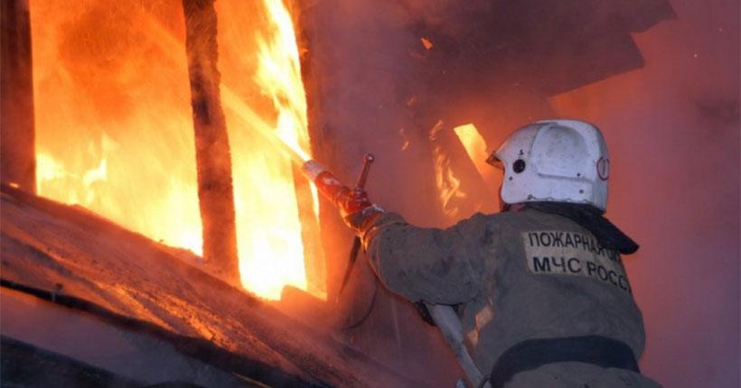 В садовом обществе под Новосибирском на пожаре погибли три человека