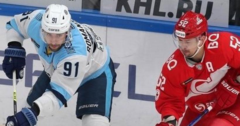 Новосибирская хоккейная «Сибирь» вырвала победу у московского «Спартака»