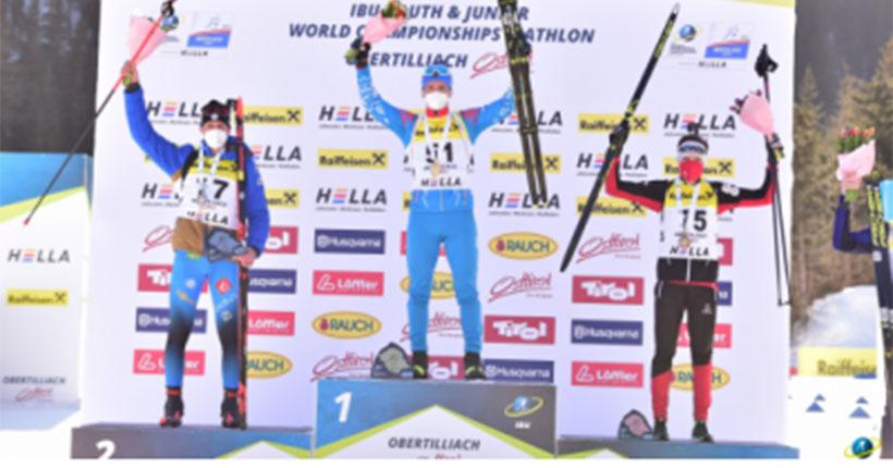 Биатлонист из Новосибирска взял золото на первенстве мира по биатлону в Австрии