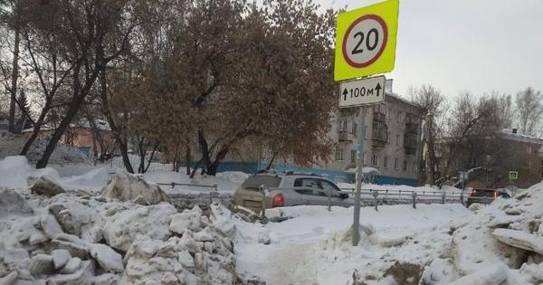 Маме двух маленьких детей на портале «Мой Новосибирск» предложили подождать с уборкой снежных завалов по дороге к детсаду до 31 марта