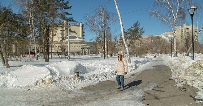 В Новосибирской области в выходные ожидается оттепель и сильный ветер