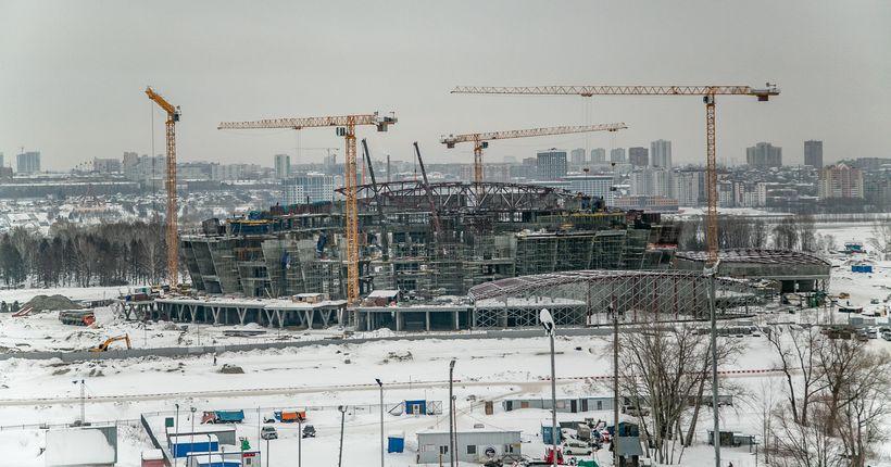 Ледовый дворец в Новосибирске готов более чем наполовину
