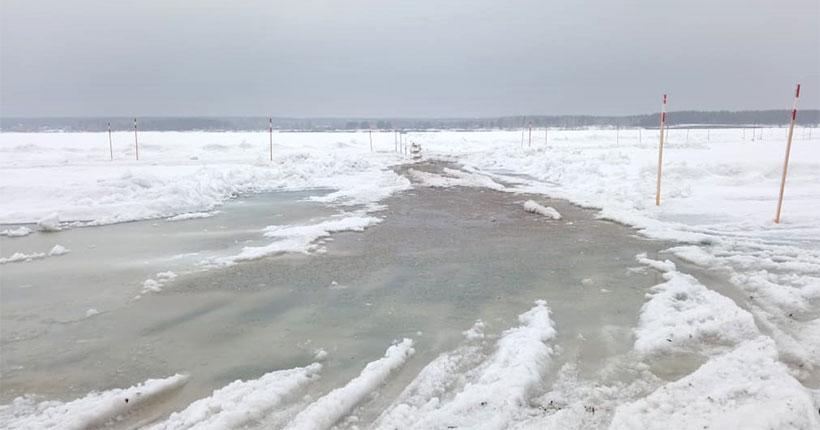В Новосибирской области из-за опасного льда закрыли все ледовые переправы