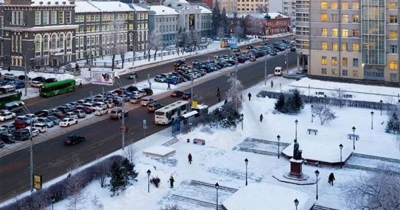 Казаки выступили с обращением о переименовании площади Свердлова в Новосибирске