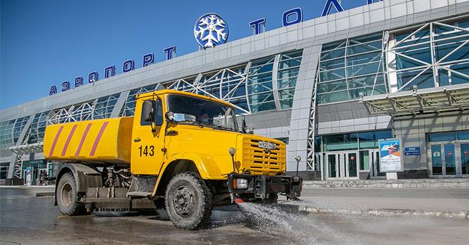В аэропорту Толмачёво Новосибирска эвакуировали пассажиров и персонал