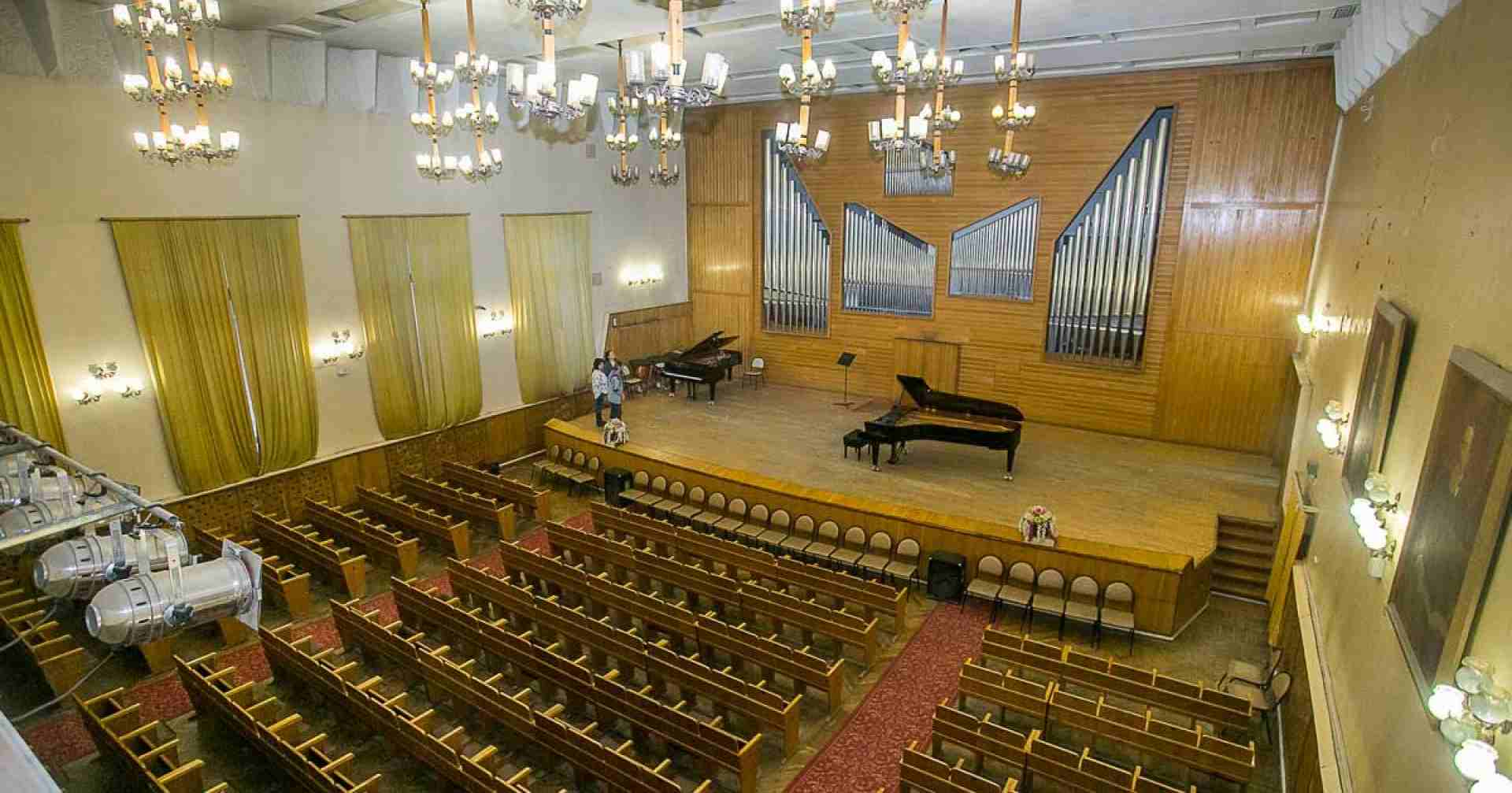 Ремонтные работы в концертном зале Новосибирской государственной консерватории завершатся к концу 2021 года