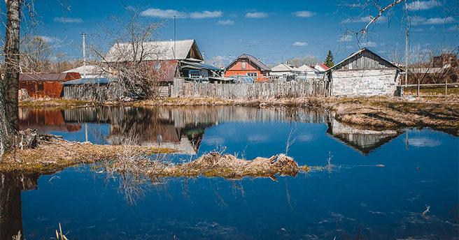В отдельных районах Новосибирской области из-за паводка введён режим повышенной готовности