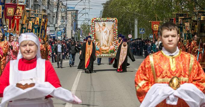 Крестные ходы пройдут в ночь с 1 на 2 мая в Новосибирске