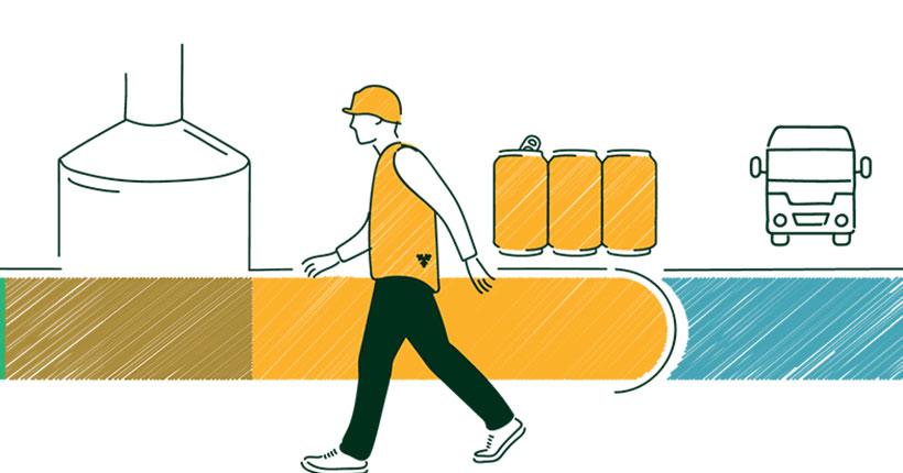 Компания «Балтика» снизила экослед производства продукции на территории страны