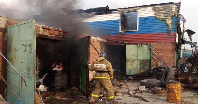 На федеральной трассе в Новосибирской области сгорело придорожное кафе