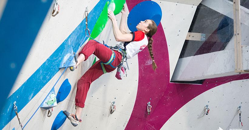 У скалолазки из Новосибирской области — первая победа на всероссийских соревнованиях