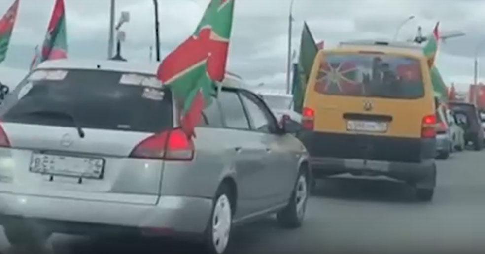 В Новосибирске пограничники устроили автопробег по дорогам города