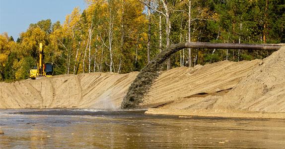 Ласточки-береговушки сделали  гнёзда в песчаных карьерах стройки ЛДС в Новосибирске