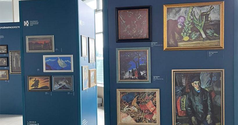 Шишкин, Айвазовский, Левицкий: в новосибирском аэропорту открылась выставка художественного музея