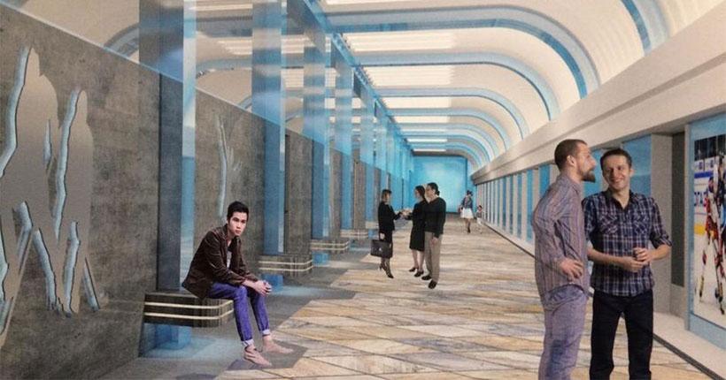 Новосибирский метрополитен представил изменившийся дизайн станции «Спортивная»