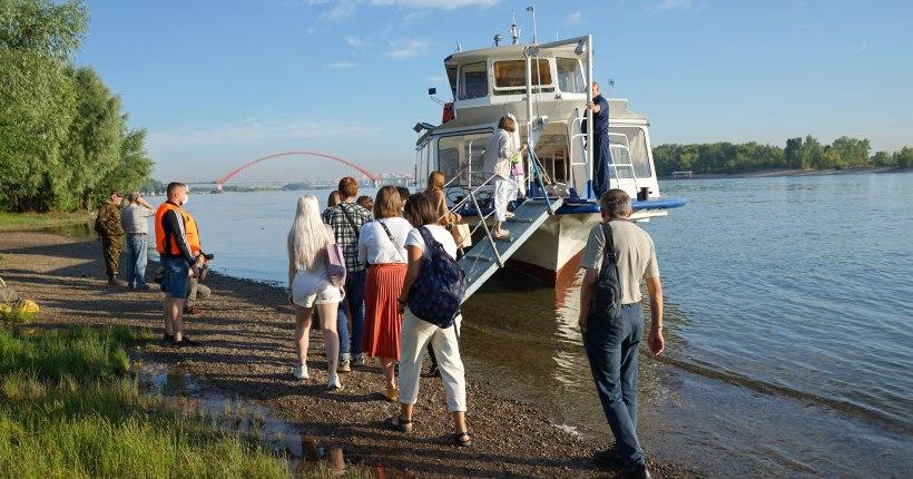 Новый водный маршрут открылся в Новосибирске